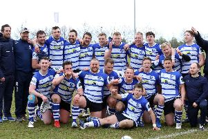 Kettering celebrate securing the Midlands One East title