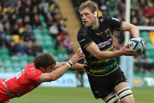 Jamie Gibson starts for Saints at Harlequins on Saturday