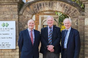 Three of the Partners from Lamb & Holmes Solicitors: Glenn Robinson, Michael Reed and Edward Lamb following Michael Reeds retirement