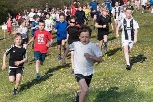 Action from the junior Parkrun.