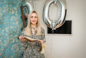 Fae Perkins of Bond Hair in Brigstock is celebrating a decade in business
