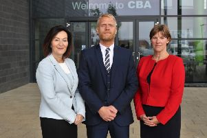 From left Executive Principal Anne Hill and Heads of School Simon Underwood and Nicola Treacy. NNL-190705-204420005