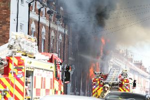 The fire at Kettering Bedding Centre