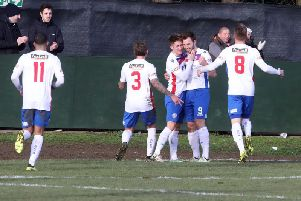 There were some good moments for AFC Rushden & Diamonds in their first season at Step 3 with one of them being the 1-0 home win over Kings Lynn Town, courtesy of a Tom Lorraine goal. Picture by Alison Bagley