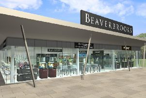 An artist's impression of the store when Beaverbrooks announced they were coming to Rushden Lakes.