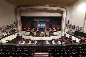 Inside the bingo hall before it closed. Photo: A Holland