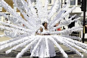 One of the spectacular costumes from last year's Wellingborough carnival parade.