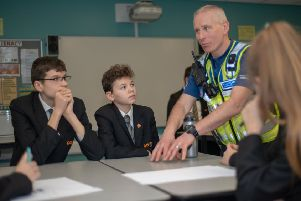 PCSO Steve Coles, who is the Schools Liaison Officer for the Corby Neighbourhood Policing Team