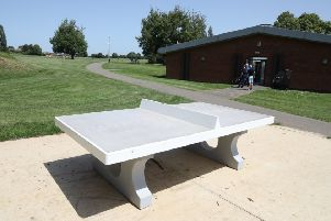 Corby: West Glebe Park new multi function outdoor gym rig, table tennis table and picnic table - �35k from WREN
