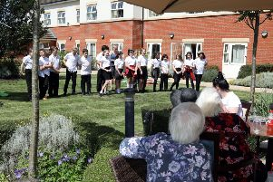 Rockingham Primary School Year 6 pupils entertain the residents and guests.  Friday, June 28