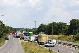 The A45 remained close for several hours.