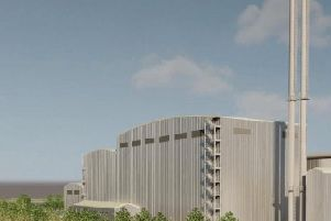 The planned incinerator and its 75m towers  would be spotted from miles away.
