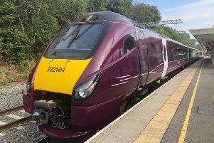 A new East Midlands Railway branded train. Picture by Rhys Beard.