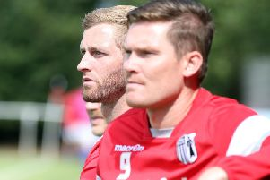 Elliot Sandy and Gary Mulligan have enjoyed a good start to the season as part of Corby Town's management team