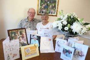 Mary and Jim Ward received a card from The Queen