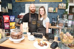 Butterwick new cakery in Rockingham Road, Corby with husband and wife team Ryan and Fiona Scarborough
