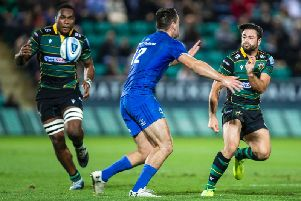 Tui Uru and Henry Taylor in action against Leinster (picture: Kirsty Edmonds)