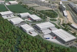 This image shows MEPC's new 140,000 ft sq speculative development at Silverstone Park.