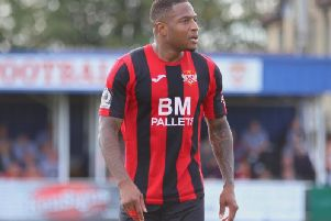 Aaron OConnor was back in the Kettering Town starting line-up in Saturdays win over Alfreton Town. Picture by Peter Short