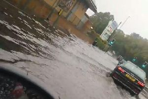 Drivers are being warned to be careful and test their breaks if they drive through water