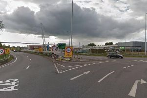 The A45 had been shut in the westbound direction between Rushden Lakes and Wellingborough