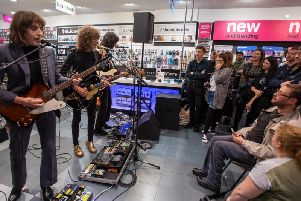 Temples returned to Kettering yesterday for a home-town gig. Pictures by David Jackson.