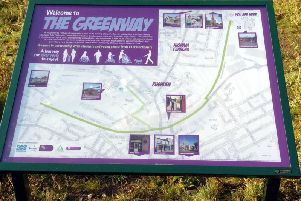 The Greenway is a path linking Rushden's historic town centre with the lakes
