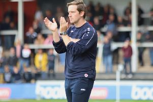 Steve Kinniburgh will oversee his first home game as joint caretaker-manager of Kettering Town alongside Luke Graham on Saturday. Picture by Peter Short