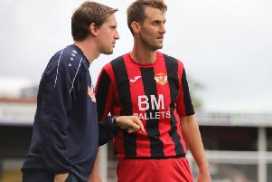 Steve Kinniburgh and Luke Graham their first home game as joint caretaker-managers of Kettering Town this weekend. Picture by Peter Short