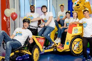A team of six young people who have been supported by Children in Need will be joined by Matt Baker as they cycle 400 miles in a rickshaw