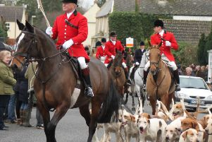 The Fitzwilliam (Milton) Hunt arriving at the Boxing Day meet 2015 in Stilton. Picture by Claire Wright