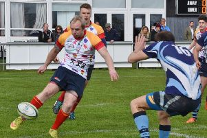 Action from Borough's last game of last season against Leicester Forest which they won 93-7.
