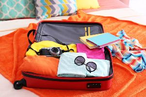 The average holidaymaker's suitcase contains items worth over £3k
