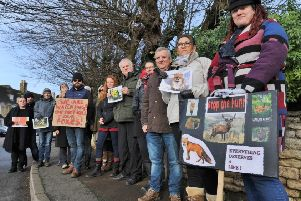 Protesters and saboteurs at the hunt