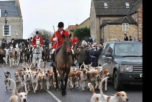 George Adams leads the Fitzwilliam Hunt