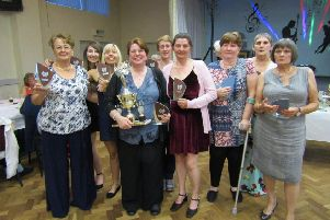 The successful GPO B ladies darts team.