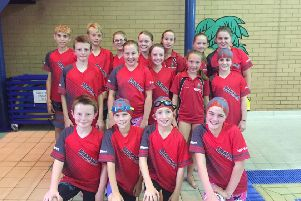 The Deepings squad before taking to the water in the Junior Fenland League.