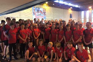 The Deepings Swimming Club squad which competed at the Rob Welbourn Open meet.