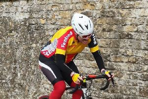James Warrener in action in Sunday's hill climb event.
