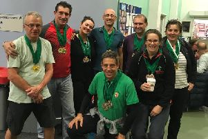 The Deepings' Masters squad at the Lincolnshire County Championships.