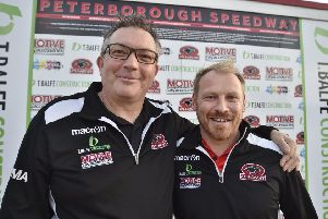 Panthers owner Ged Rathbone (left) and team manager Carl Johnson. Both are stepping down.