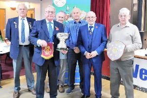 Blackstones received no fewer than four title-winning awards at the Peterborough League presentation evening, including the Albert Rowlett Cup from League chairman Melvyn Beck.