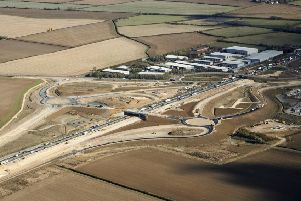 The old bridge at Swavesy will be demolished following the completion of a new crossing over the widened A14. Picture: Highways England