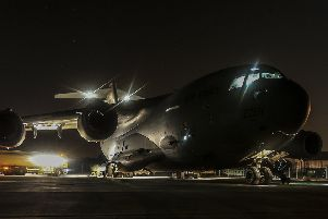 A Royal Air Force C-17 aircraft . Picture: Cpl Neil Bryden RAF (MoD/Crown copyright)