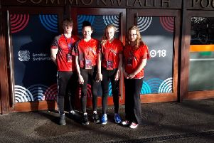 The Deepings quartet who competed at the Scottish National Short Course Championships. From the left they are Tom Neal, Bethany Eagle-Brown, Holly Leggott and Lorna McGill .