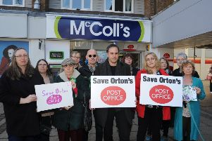 A protest to keep a Post Office in Ortongate Shopping Centre