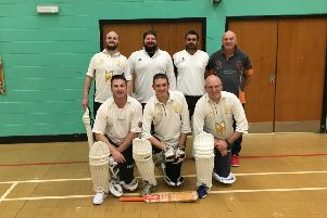 Bretton's indoor cricket team,  back row, from left, Matt Bennett, Luke Marriott, Shakil Hussain and Dave Bennett, front, Andy Bennett, Neil Buckingham and Gary Bennett.