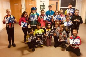 Fenland Clarion youth cyclo-cross winners.
