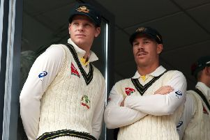 Australian villains Steve Smith (left) and David Warner.