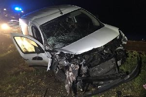 One of the vehicles badly damaged in the collision. Photo: Cambridgeshire police